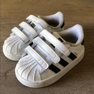 Adidas Superstar Velcro Tennis Shoes/Sneakers 5K